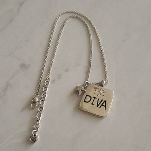 Brighton Diva High Heel silver necklace